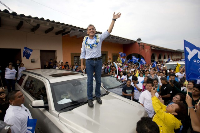 Le candidat du Parti action nationale dans l'État de Tamaulipas, Miguel... (PHOTO AP)