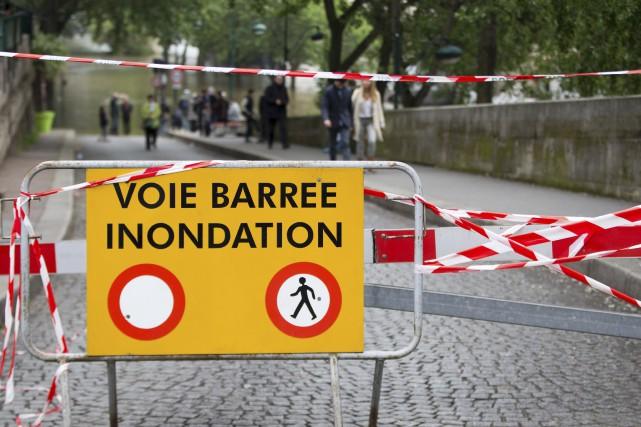 Le niveau de la Seine à Paris est... (AFP, JOËL SAGET)
