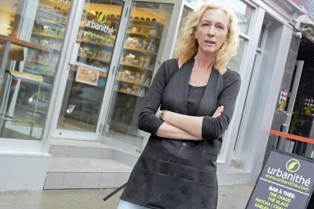 Victime de vandalisme, la terrasse d'Urbanithé a été... (Andréanne Lemire)