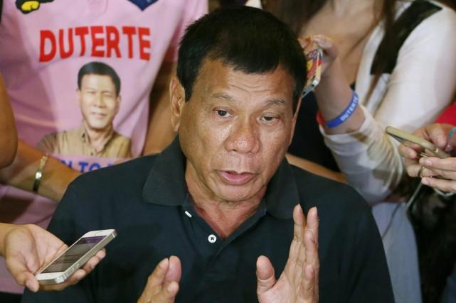 Rodrigo Duterte,élu le mois dernier à la tête... (PHOTO BULLIT MARQUEZ, ARCHIVES AP)
