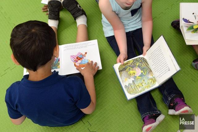 Québec ajoute 30 classes aux 70 maternelles 4 ans déjà prévues cette année en... (Archives La Presse)