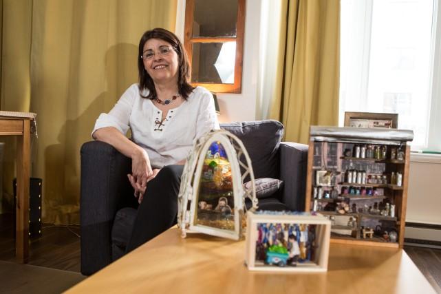 Christiane Chami, née à Alep, s'inspire de ses... (PHOTO HUGO-SÉBASTIEN AUBERT, LA PRESSE)