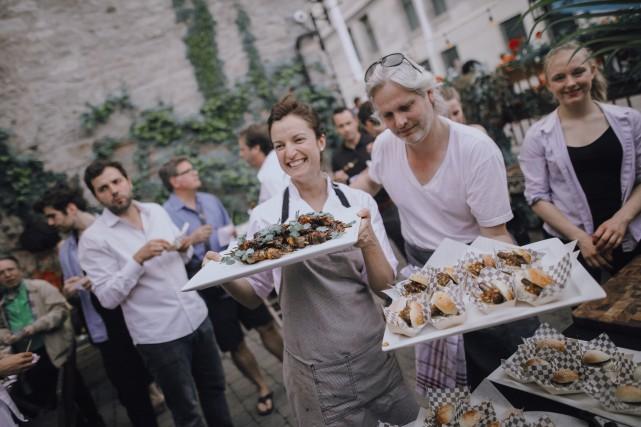 La chef Cindy Wolleschlaeger pilotera deux événements gourmands... (Photo fournie par l'Auberge Saint-Gabriel/créditKarel Chladek)