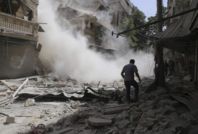 La ville d'Alep en Syrie, est soumise à... (PHOTO ARCHIVES AFP)