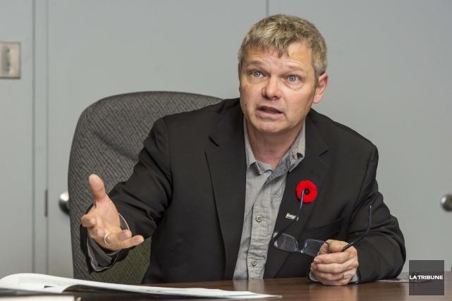 Le président de Destination Sherbrooke, le conseiller municipal... (Archives, La Tribune)