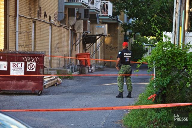 Un homme a été assassiné, dans l'arrondissement LaSalle, à Montréal. Lundi... (PHOTO ANDRÉ PICHETTE, LA PRESSE)
