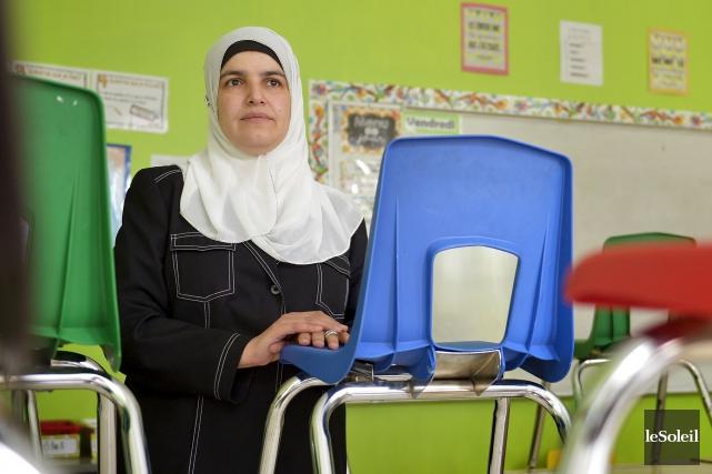 La directrice et fondatrice deL'École de l'Excellence,Amira Boulmerka,soutient... (Le Soleil, Yan Doublet)