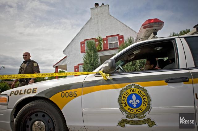 REPENTIGNY--Opération SharQc. La Sureté du Québec effectue des... (PHOTO PATRICK SANFAÇON, ARCHIVES LA PRESSE)