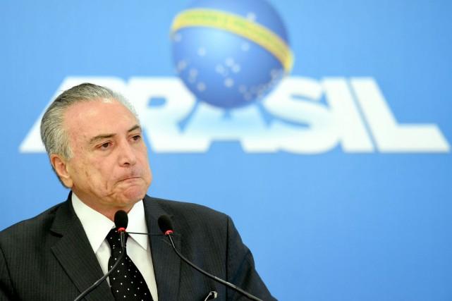 Le président brésilien par intérim Michel Temer.... (PHOTO EVARISTO SA, AFP)