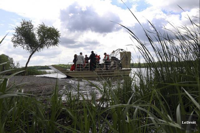 L'entreprise Bayou-Outaouais propose des excursions en hydroglisseur dans... (Étienne Ranger, LeDroit)
