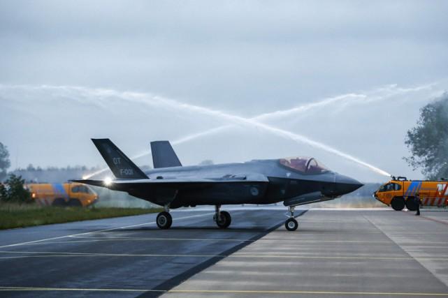 Un F-35 américain àLeeuwarden, au Pays-Bas, le mois... (PHOTO AFP)