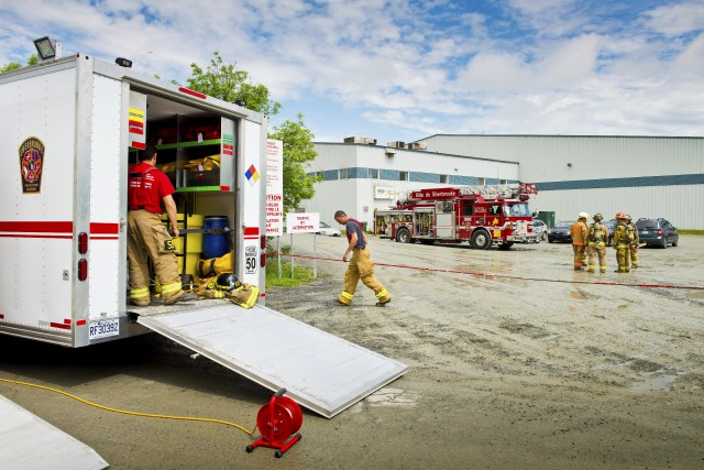 Les pompiers sont intervenus à deux reprises, mardi,... (Spectre Média, Jessica Garneau)