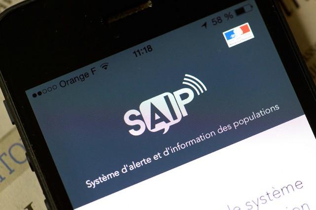 L'utilisateur de l'application SAIP reçoit, dans les 15minutes... (PHOTO BERTRAND GUAY, AFP)