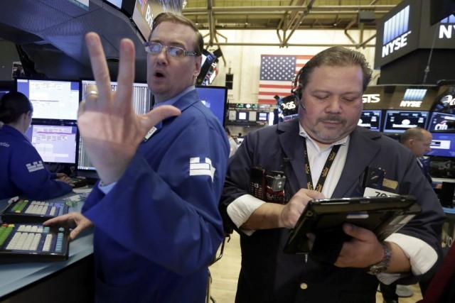Le Dow Jones gagnait 0,10% et le Nasdaq... (Photo Richard Drew, AP)