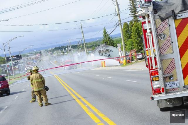 Une fuite de gaz a forcé l'évacuation des... ((Photo Le Quotidien, Gimmy Desbiens))