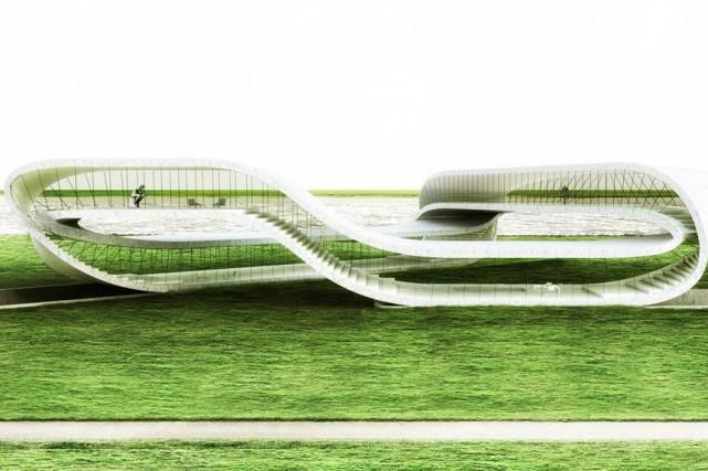 L'idée de départ n'était néanmoins pas d'utiliser une... (Photo fournie par Universe Architecture)