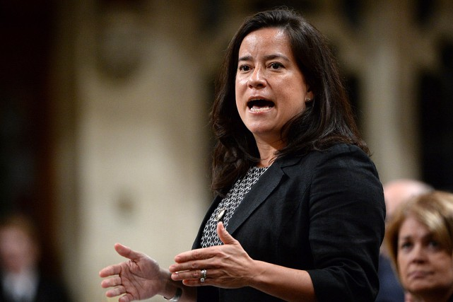 La ministre de la Justice, Jody Wilson-Raybould.... (Photo Adrian Wyld, archives PC)