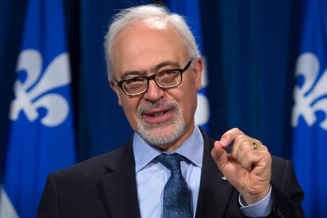 Le ministre des Finances et président du Conseil... (Photo Jacques Boissinot, archives PC)