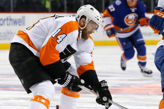 L'attaquant des Flyers de Philadelphie Sean Couturier fera... (Photo Kathy Willens, AP)