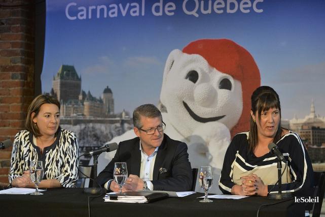 Caroline Roy,vice-présidente chez Léger,AlainApril,président du conseil d'administration du... (Le Soleil, Patrice Laroche)
