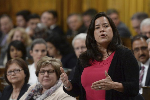Jody Wilson-Raybould, ministre fédérale de la Justice... (PHOTO Sean Kilpatrick, PC)