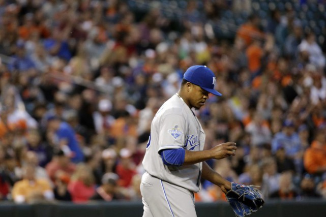 Edinson Volquez (5-6) a permis quatre points et... (PHOTO Patrick Semansky, AP)