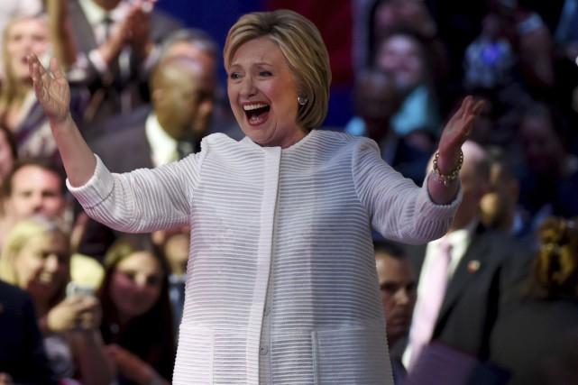Hillary Clintonest devenue la première femme à remporter... (AFP, Timothy A. Clary)