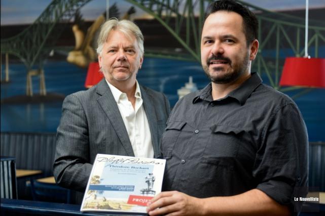 Le producteur et réalisateur Pierre Saint-Yves et l'historien... (François Gervais, Le Nouvelliste)