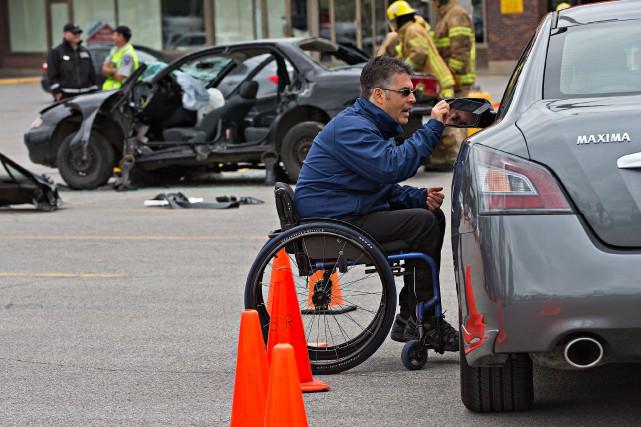 Nicolas Steresco, paraplégique depuis un accident de moto... (PHOTO PATRICK SANFAÇON, LA PRESSE)