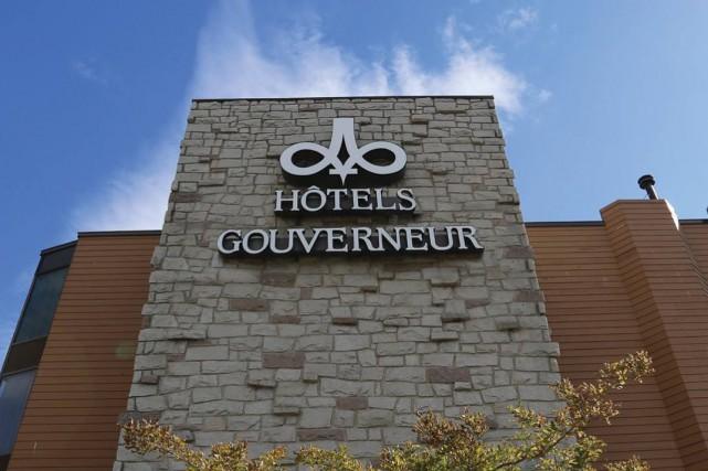 Les travaux pour l'aménagement extérieur de l'Hôtel Gouverneur de Sherbrooke... (Photo tirée de Facebook)