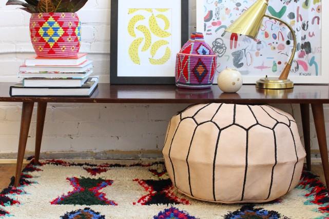 Ici, les paniers colorés s'accordent à merveille avec... (Photo fournie par Baba Souk)