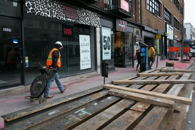 «Avant même ces travaux, plusieurs commerces de cette... (PHOTO MARTIN TREMBLAY, ARCHIVES LA PRESSE)