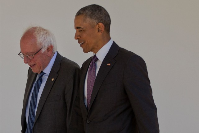 Reçu par Barack Obama à Washington, Bernie Sanders... (AP, Pablo Martinez Monsivais)
