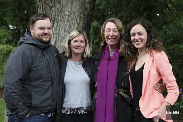 Philippe Mercier, Nathalie Lacoursière, Monique Picard et Marie-Josée... (Christophe Boisseau-Dion, La Voix de l'Est)