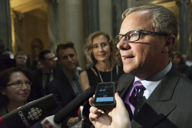 Brad Wall, premier ministre de la Saskatchewan, sera notamment à... (PHOTO Michael Bell, archives PC)