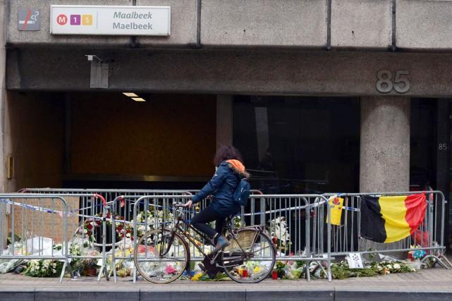 Les attentats du 22 mars dernier à Bruxelles... (PHOTO JOHN THYS, ARCHIVES AFP)