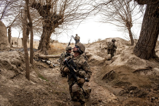Des soldats américains dans la province de Kandahar,... (PHOTO Bryan Denton, ARCHIVES THE NEW YORK TIMES)