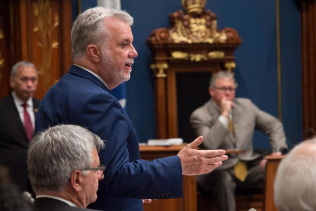 Le premier ministre a conclu les travaux parlementaires,... (La Presse Canadienne)