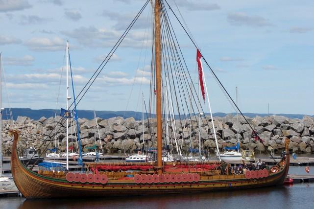 Le navire Drakken Harald Harfagne a fait courir... (Collaboration spéciale Steeve Paradis)