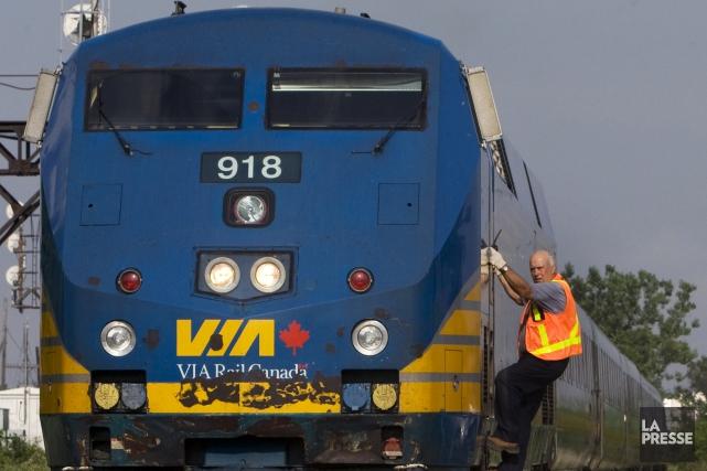 Via Rail a annoncé vendredi avoir reçu un... (Archives La Presse)