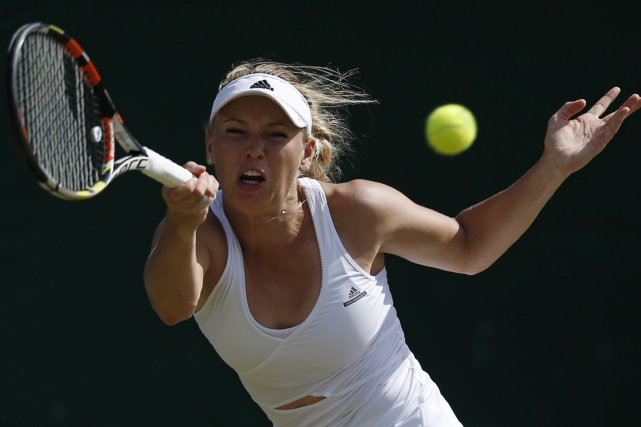 Caroline Wozniacki... (Adrian Dennis, Archives AFP)