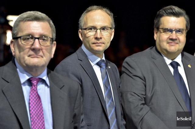 Les maires de Québec et de Montréal, Régis... (Photothèque Le Soleil, Pascal Ratthé)