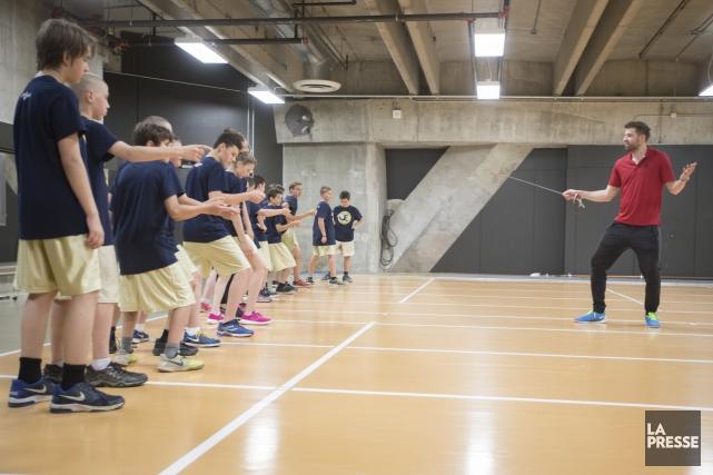 Les jeunes du premier cycle du programme Sport-études... (La Presse)