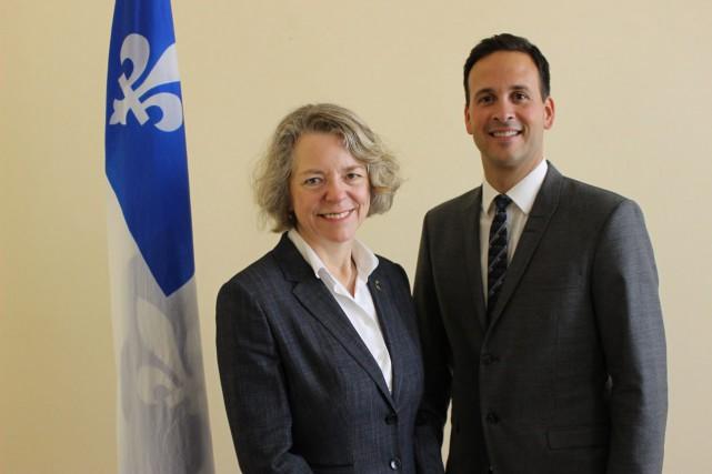 La députée de Chicoutimi, Mireille Jean, donne son... (Photo courtoisie)