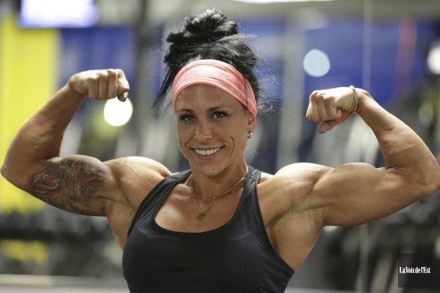 Dominique Matthews pratique le conditionnement physique depuis déjà... (Catherine Trudeau, La Voix de l'Est)