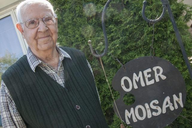 Omer Moisan remercie la vie d'être en assez... (Photo Le Progrès-dimanche, Michel Tremblay)