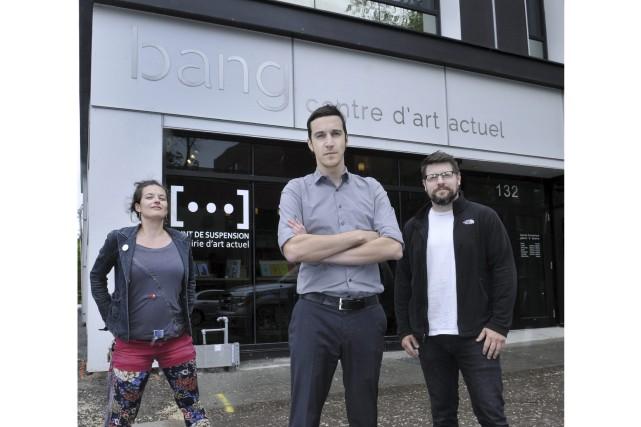 Anick Martel, coordonnatrice artistique du Centre Bang, Sébastien... (Photo Le Progrès-dimanche, Rocket Lavoie)