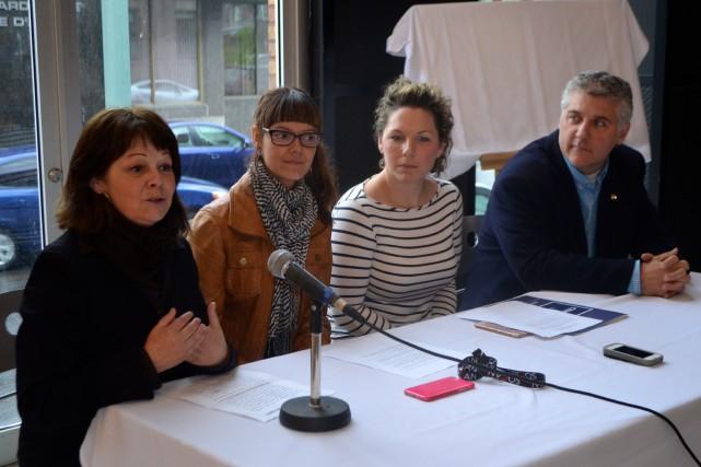 Line Gaudreault, de Cogeco, Mélanie Renaud, de la... (Photo Le Progrès-Dimanche, Laura Lévesque)