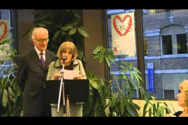 La conjointe de Réjean Ducharme, Claire Richard.... (Photo tirée d'une vidéo)
