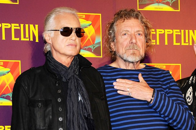 Jimmy Page et Robert Plant de Led Zeppelin en... (PHOTO EVAN AGOSTINI, ARCHIVES AP)